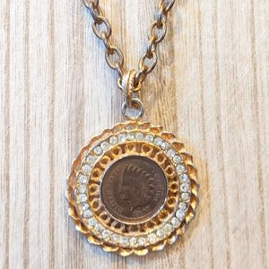 Jewelry - Vintage 1907 Indian Head Lucky Penny Necklace